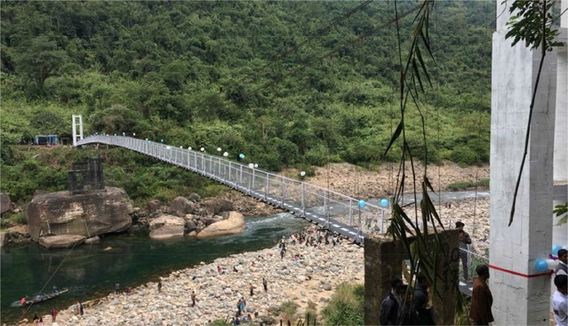 140 meter suspension bridge