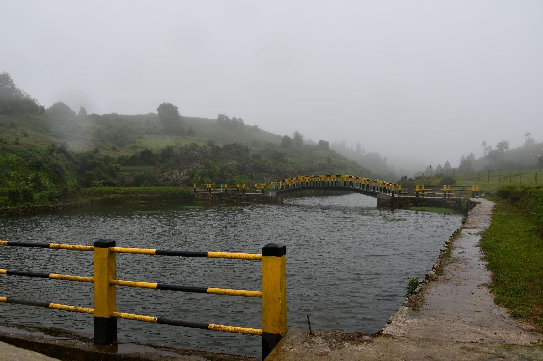 Construction of Check Dam at Pingwait VEC Mawkynrew C&RD Block East Khasi Hills District