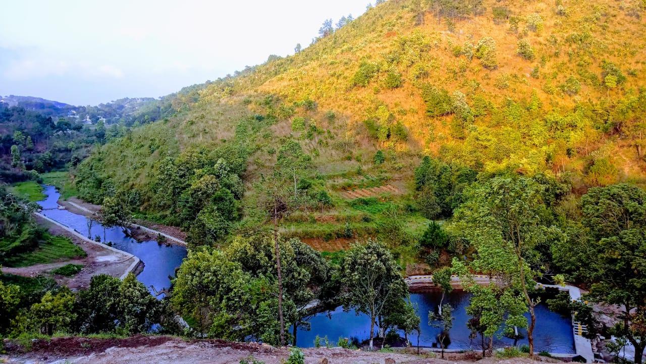 The Check Dam at Lwang implemented by Mawryngkneng VEC under Mawryngkneng C&RD, East Khasi Hills